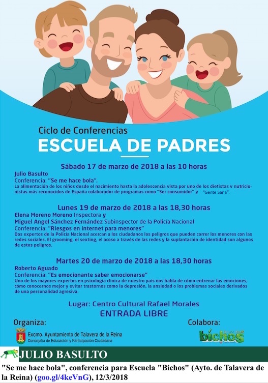 """""""Se me hace bola"""", conferencia para Escuela """"Bichos"""" (Ayto. de Talavera de la Reina)"""