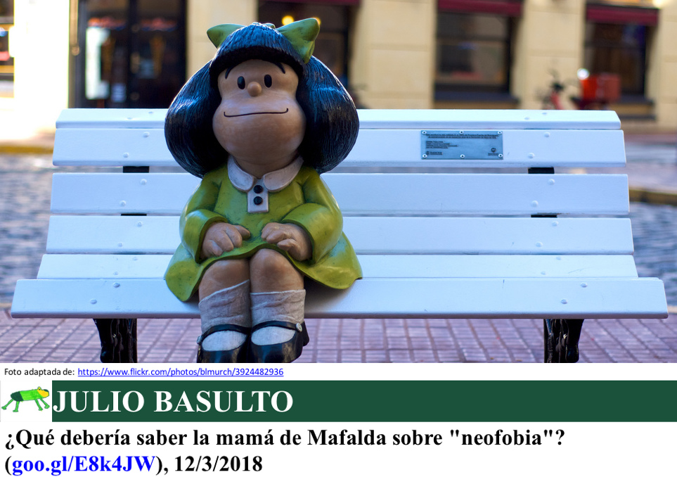 """¿Qué debería saber la mamá de Mafalda sobre """"neofobia""""?"""