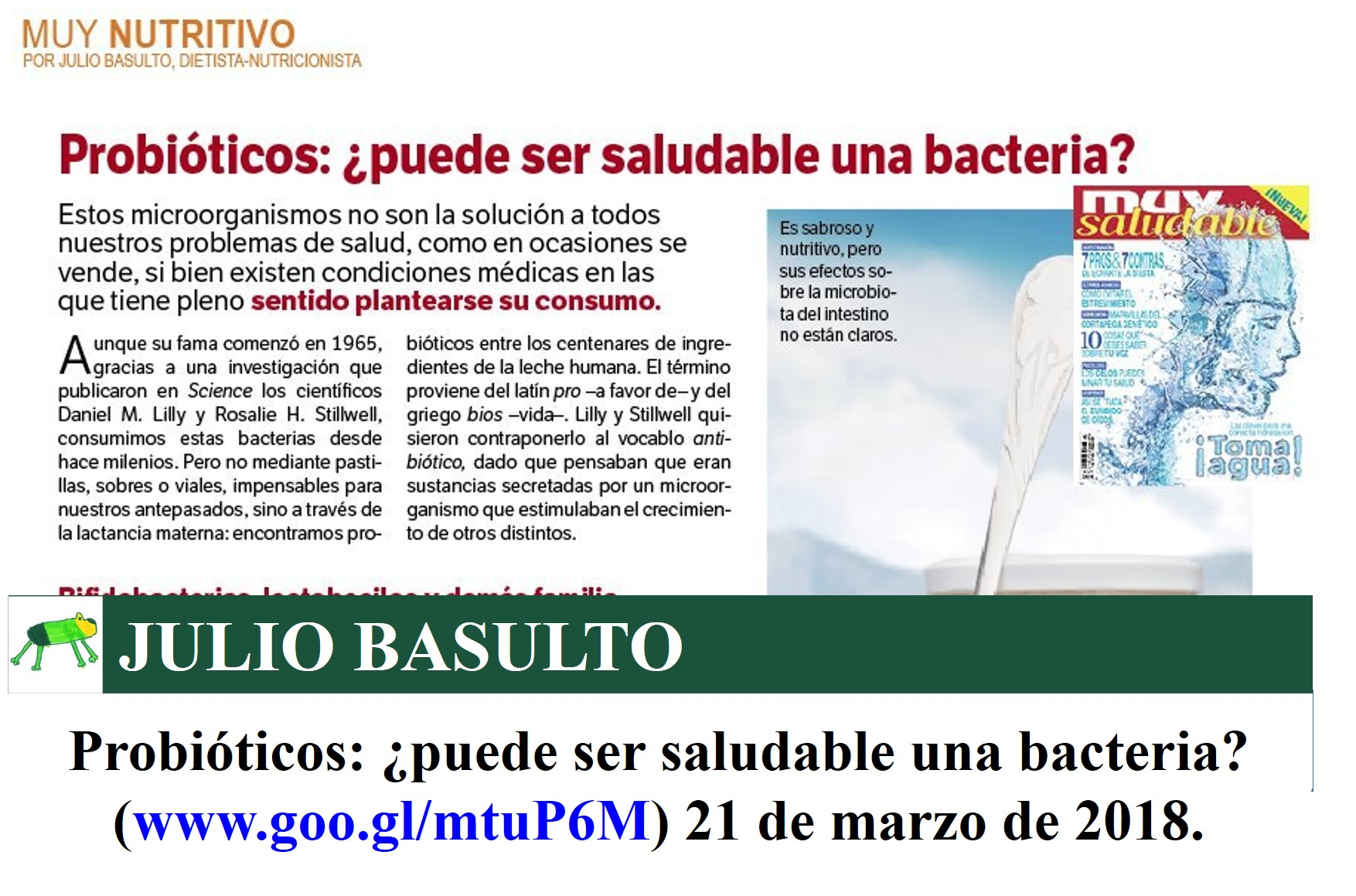 Probióticos: ¿puede ser saludable una bacteria? (texto)