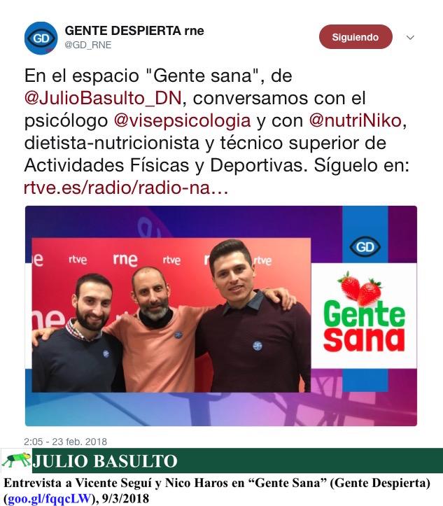 """Entrevista a Vicente Seguí y Nico Haros en """"Gente Sana"""" (Gente Despierta)"""