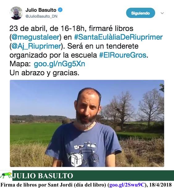 Firma de libros por Sant Jordi (día del libro)